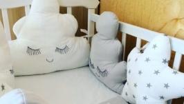 Бортики-захист в кроватку для новонароджених
