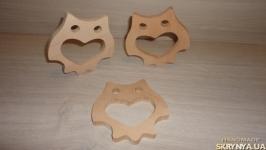 Грызунки из дерева серия ′Зоопарк′.  Прорезыватель - Сова