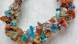 Медный браслет ′Волшебный ключик′