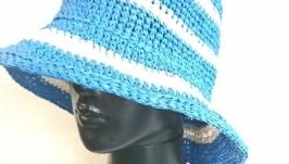 Летняя шляпа из натуральной рафии