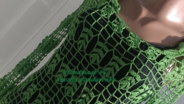 Ажурная кофточка Весенняя зелень