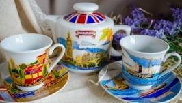 Сервиз из двух чашек и чайника ′Лондон′