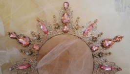 Ободок-корона ′Розовая′