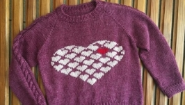 вязаный свитер на девочку