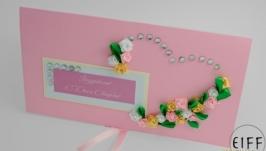 Листівка- конверт для грошового подарунку, на весілля арт. 10101601