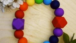 Силіконовий браслет для прорізування зубів малюків