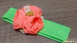 «Трикотажные повязочки с цветами»