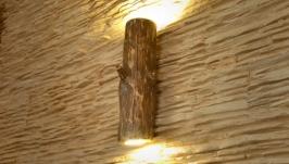 Бра из натурального дерева, настенный светильник из натурального бревна