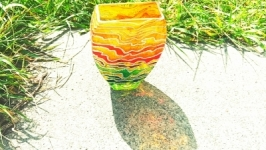 Скляна декоративна ваза