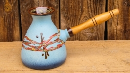 Турка велика, декор ′Крайка′, блакитна