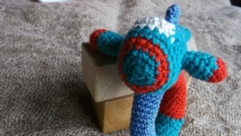 В′заний літак, іграшка для хлопця, амігурумі літак, брязкальце-літак
