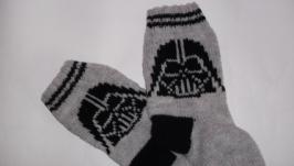 Вязаные носки Супергерои