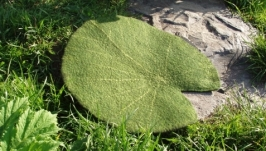 Шерстяной коврик Лист кувшинки