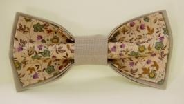 Галстук-бабочка с цветами