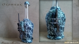 Декор бутылки ′Охотник′, подарок мужчине охотнику на день рождения, юбилей