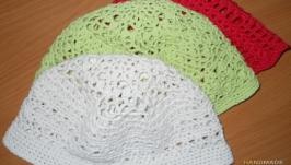 Летние шапочки панамки