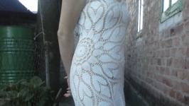 Платье крючком с салфетки