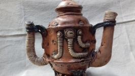 Чайник в стилі стімпанк ′Older 3.0′ керамічний