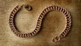 Медный браслет цепочка