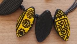 Этническое колье и сережки