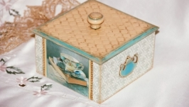 Короб-шкатулка для сладкого «Приглашение на чай»