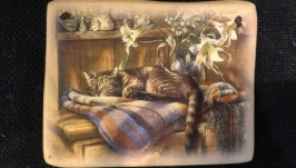 Керамічна плакетка на стіну ′Квітковий сон′