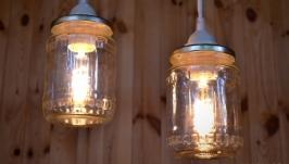 Подвесной светильник из консервной банки
