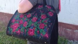 Валяная дорожная сумка
