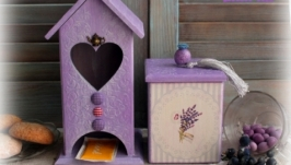 Чайный домик и сахарница «Lavender morning»