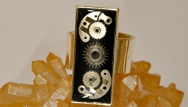 Стимпанк кольцо ′Time′