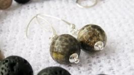 Сережки ′Йорд′ агат.Украшения из натуральных камней