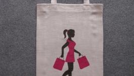 Эко-сумка ′Девушка в розовом′