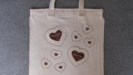 Эко-сумка ′Сердечки′.