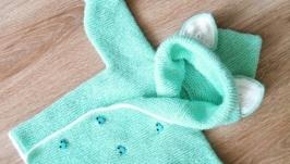 Кардиганчик с ушками для малышей унисекс