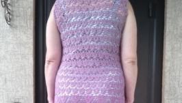 Платье вязаное летнее