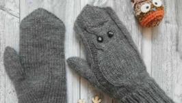 Зимові рукавиці ′Совушка′, зимние рукавички ′Совушка′