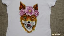 Летняя женская футболка с лисой