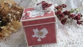 Коробочка для денег -мини-альбом «Свадебная -3 »
