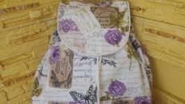 Рюкзак Сиреневые бабочки
