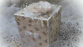 Коробочка для денег -мини-альбом «Свадебная -4 »