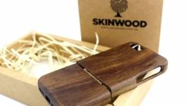 Деревянный раскладной чехол  для iPhone 55s
