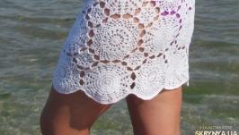 Пляжная юбка ′Летний ажур′ Большой размер