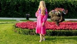 сукня вишиванка ′Рожева квітка′