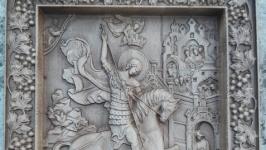 Икона резная ′Георгий победоносец′