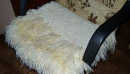 Вовноваляна накидка на крісло з флісу овець