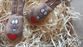 Кавова іграшка Заєць - малючок