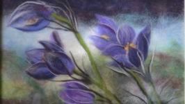Картина из шерсти ′Сон-трава′