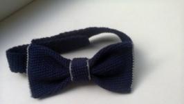 вязаный галстук-бабочка