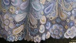Вязаное платье ′Капелька нежности - 2′ с длинным рукавом