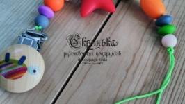 Прищепка-грызун силиконовая ′Яркая Черепашка′
